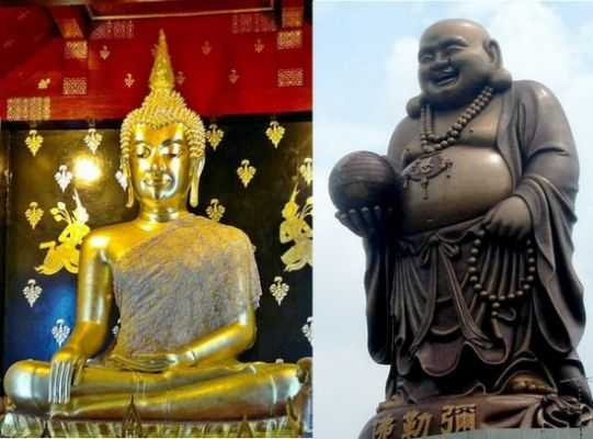 Representation of Buddha, the fat and the skinny