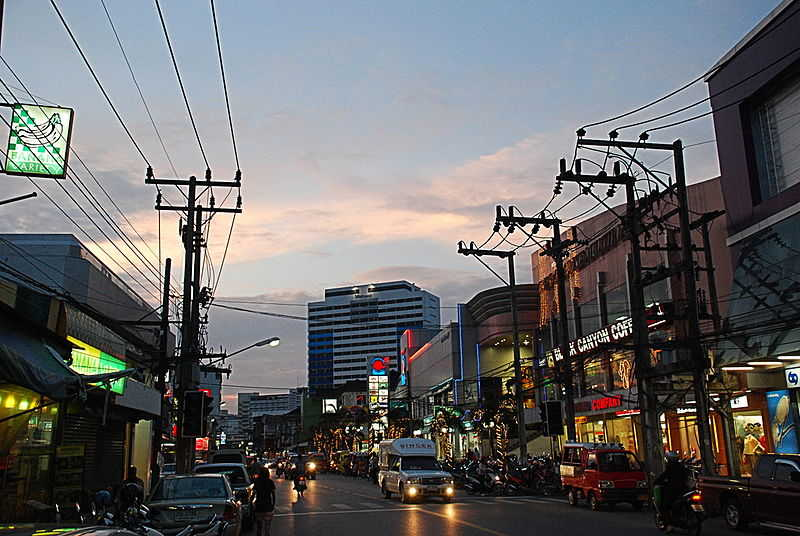 Phuket city in the evening