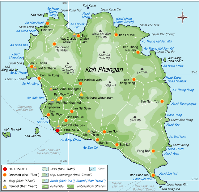 map of Koh Pha Ngan