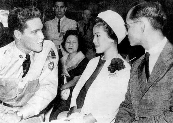 the king of Thailand and Elvis Presley
