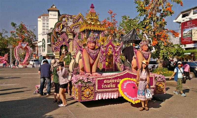 Chiang Mai Flower Festival in Thailand