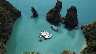 Photo of Un cinema galleggiante allestito in una laguna in Thailandia