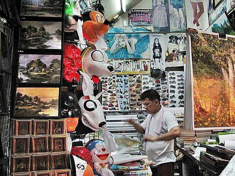 Seller at the Chatuchak market