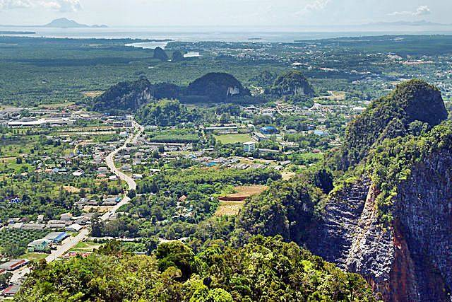 View of Krabi city from the tiger cave