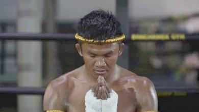 Photo of Ram Muay, a ritual dance before Muay Thai's fights
