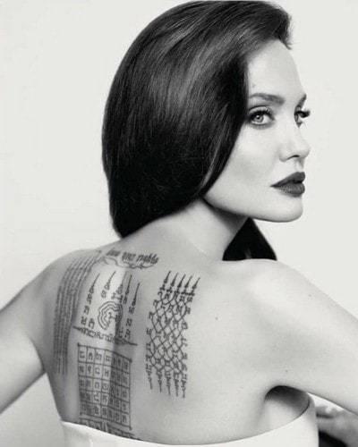 Sak yant d'Angelina Jolie